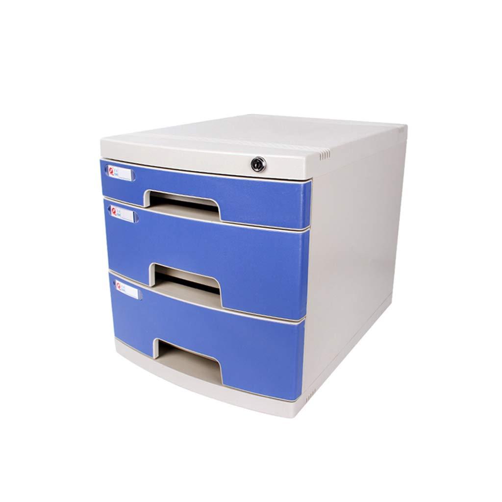 ZHJING Gabinete de Archivo de Escritorio Papelería Caja de gabinete de Almacenamiento Material de Oficina Cajón de plástico: Amazon.es: Hogar