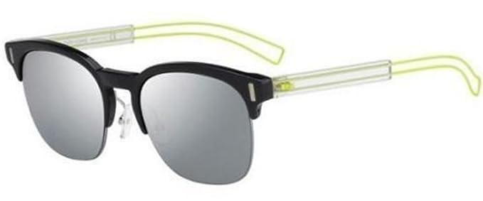 dior mirrored sunglasses celebs new christian dior black tie 207s cj4t4 black yellowgrey mirror sunglasses amazoncom yellow