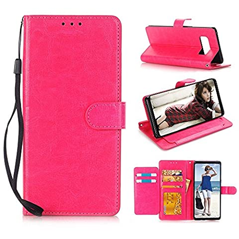 Mobile Phone Protective Cover Crazy Horse Pattern Leather Case Wallet Flip Cover With Card Slots And Stand For Samsung Galaxy Note 8 Echou (Hot (Iphone6 Porch)