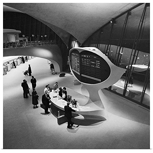 (GREATBIGCANVAS Poster Print Entitled The Help Desk in The Trans World Airlines Terminal at Idlewild Airport in New York, 1958 by 12