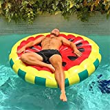 MeiLiio Pool Float,Cute Swimming Floaty Pool Toy Beach Mat Water Party Toys Easily Foldable for Easy Inflation/Deflation,with Pool Drink Holder for Adults & Kids