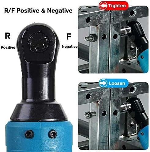 Propre Et Classique YUIOLIL Clé à cliquet électrique 3/8 25 V sans Fil, Outil portatif Rechargeable à Angle Droit avec 1 kit de Chargeur de Batterie  05Iej