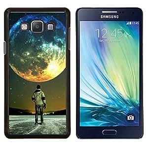 Luna Colores- Metal de aluminio y de plástico duro Caja del teléfono - Negro - Samsung Galaxy A7 / SM-A700