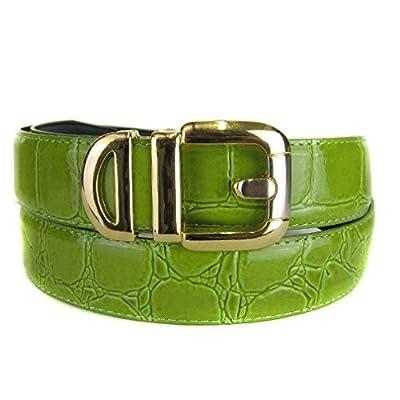 BLTBY-ALG-20 - Green - Boys Alligator Skin Bonded Leather Belt