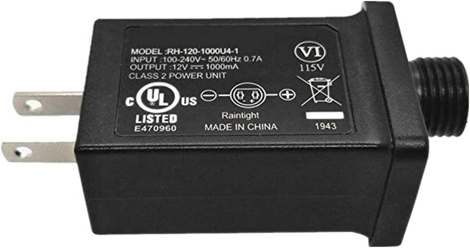 Sodoop 12V 1A Class 2 Power Supply IP44 Waterproof LED Transformer Low Voltage Adapter UL CE Listed for String Light,Inflatable Device,Fountain Lights Lawn Lamp Holiday Lighting,Projector Light