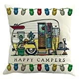 SODIAL(R) Hot New Fashion Happy Campers Cushion Cover - Best Reviews Guide