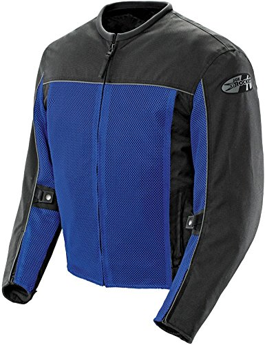 Leather And Mesh Motorcycle Jacket - 4