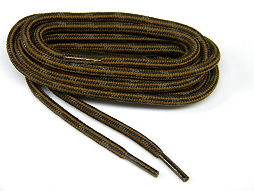 - GREATLACES 60 inch Rust w/Black Kevlar (R) proTOUGH(TM) Boot Shoelaces 2 Pair Pack