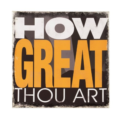 Carson Home Accents 13560 How Great Thou Art Canvas Wall Art, 12-Inch by 12-Inch by 1-Inch