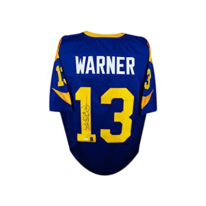 Image Unavailable. Image not available for. Color  Kurt Warner Autographed St  Louis Rams ... 22d89ee96