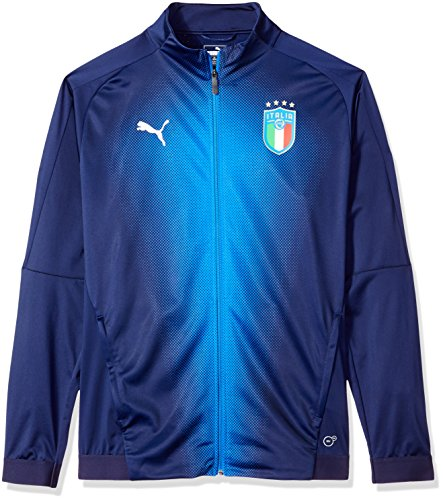 PUMA Men's FIGC Italia Stadium Jacket, Peacoat Team Power Blue, XL (Puma Soccer Jacket)