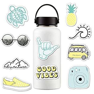 Sunshay Stickers for Water Bottles,10 PCS VSCO Stickers,Trendy Decal Water Bottle Stickers,Cute Waterproof and Perfect for Teens,Girls,Kids,Adults Aesthetic Sticker for Laptop,Car, Phone: Arts, Crafts & Sewing