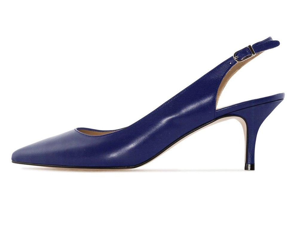 Soireelady - Zapatos con correa de tobillo Mujer 36 EU|Azul
