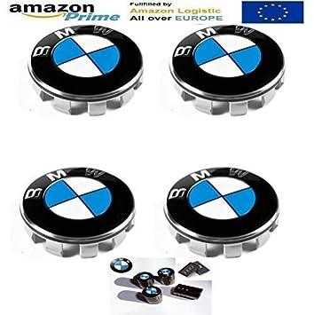 FORTEN CAR X4 Llanta con el 55 mm Logo BMW Serie Serie 1 2 3 4 5 6 7 m Z X - Hombre: Amazon.es: Coche y moto