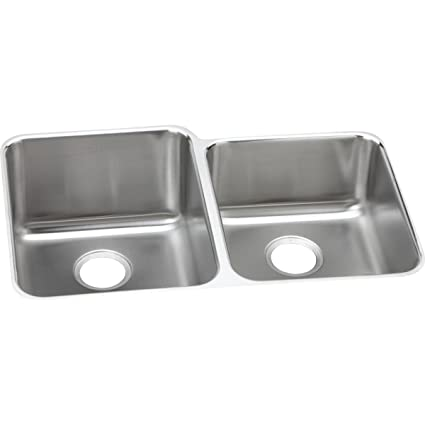 Elkay Lustertone ELUH3120R Offset Double Bowl Undermount Stainless ...