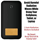 radiation protection phone - 2 Pack - Anti EMF Radiation Protection Shield Stickers for Cell Phone, Laptops, Mobile Devices - Eliminates Radiative Wave and Prolongs Lifespan of Cellphone Battery