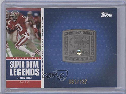 Jerry Rice #31/137 (Football Card) 2011 Topps - - Super Bowl Legends 2011