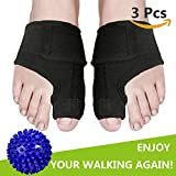 Bunion Splints, Bunion Corrector and Bunion Relief Pads with Foot Massage Ball