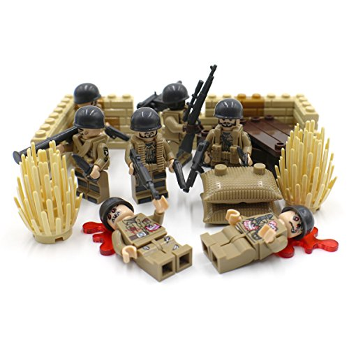 Army Infantry Set - Desert Army Infantry Squad - Military Building Block Toy