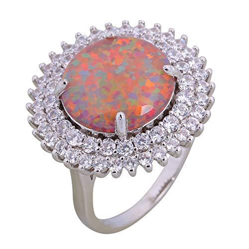 Garilina Individual Design Fashion Jewelry Ladies White Zircon Brown Opals 925 Silver Ring for Women Wholesale R625 (6)