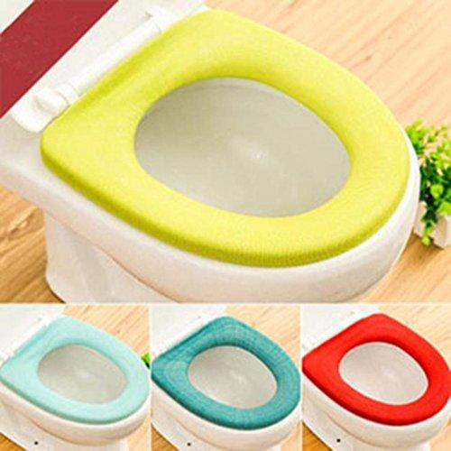 Iuhan 2Pcs Bathroom Toilet Seat Closestool Washable Soft Warmer Mat Cover Pad Cushion❤️Random Color❤️ (2) by Iuhan (Image #6)