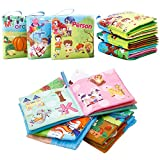 FunsLane Soft Cloth Baby Books Baby First Book Non-Toxic, Fabric, Colorful, Squeak