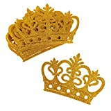 Homeford Glitter Foam Royal Crown Cut-outs, 4-3/4-Inch, 10-Count (Gold)