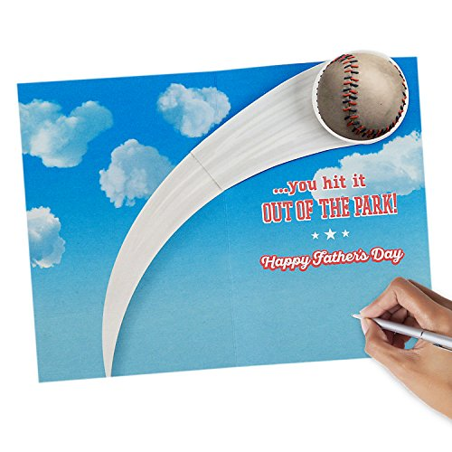 Hallmark Father's Day Greeting Card for Grandpa from Kids or Child (Peanuts Snoopy Baseball) Photo #4
