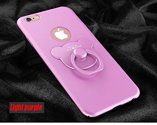 iphone 7, iphone 7 Plus , Manyip Cases and covers Alta Calidad Ultra Slim Anti-Rasguño y Resistente Huellas Dactilares Totalmente Protectora Caso de Plástico Duro Cover Case,+Ring stand holder(AQM-01) E