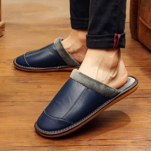 Td 42 D'hiver Coton Masculines couleur De Bleu Noir Taille Pantoufles 41 wqrwR