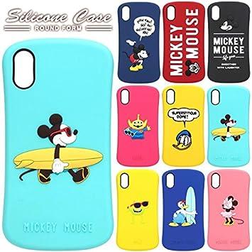 215979969d 【カラー:ミッキーマウス/ネイビー】iPhoneX ディズニー シリコンケース ソフト ケース ソフトケース