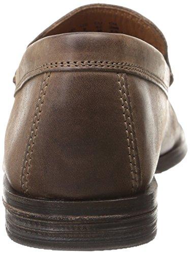 Clarks Mens Breken Gratis Slip-on Loafer Brun