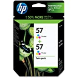 HP 57 Tri-color Original Ink Cartridges, 2 pack (C9320FN)