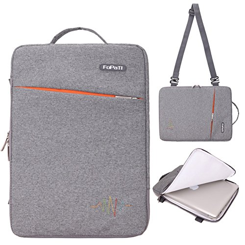 Series Slipcase (FOPATI 15 - 15.6 Inch Laptop Sleeve Vertical Slipcase Shoulder Bag Messenger Case for ASUS X551MA/ P-Series, Toshiba Satellite, Dell Inspiron 15, Acer Aspire E 15/ Predator 15.6, HP Pavilion15 - Gray)