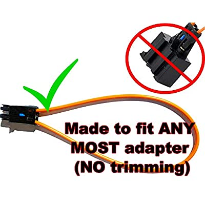 MPUSA PRE-TRIMMED MOST fiber optic optical loop bypass Female adapter for Radio and Audio MERCEDES BMW VW AUDI PORSCHE SOS FIX: Automotive