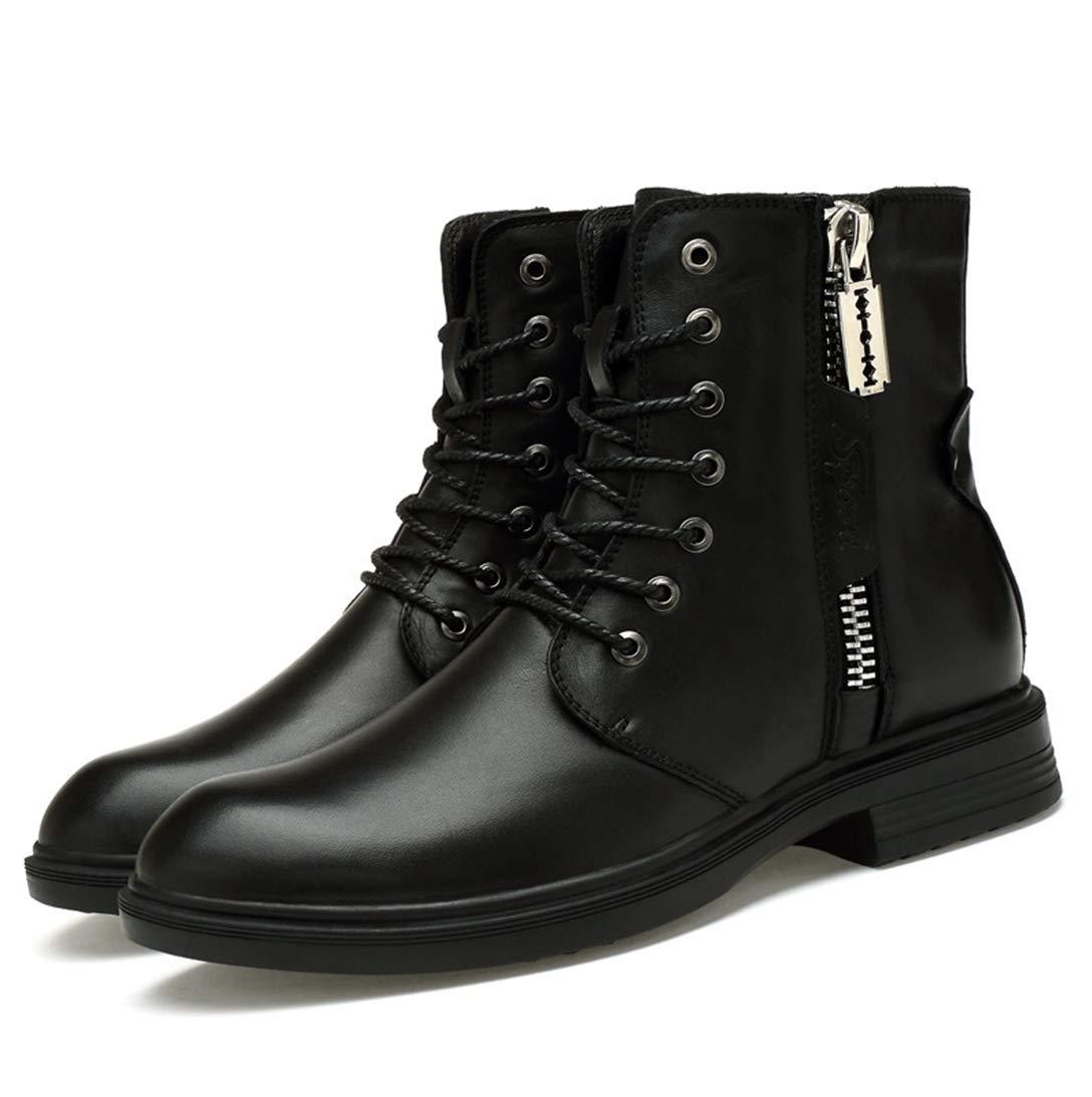 dc284f85ff0dd Amazon.com: XINBONG Men's Martin Boot Zipper Comfortable Fashion ...