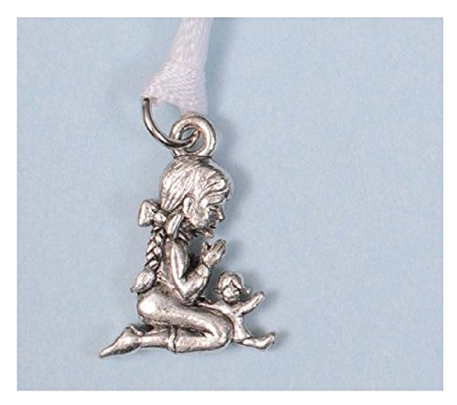 Beaucoup Designs Wedding Cake Decoration Charms Silver Bridal Pulls (Praying Child)