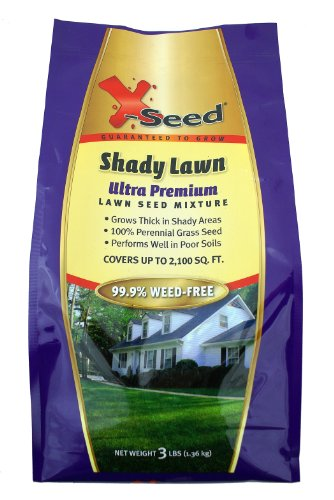X-Seed Ultra Premium Shady Lawn Seed Mixture, (3 Lb Shady Grass Seed)