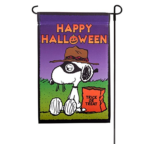 Peanuts Snoopy *HAPPY HALLOWEEN * One Sided Garden