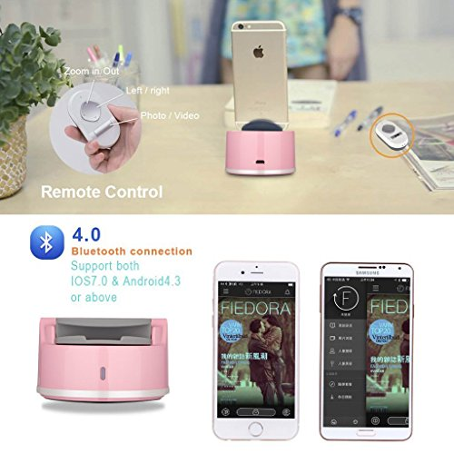 Clebsch Smart Selfie Robot for Mobile Phone IOS and Andro System with Bluetooth Connection to Take Photo Auto Tracking 360 Degree Rotate (Pink Gen2) by Clebsch (Image #3)