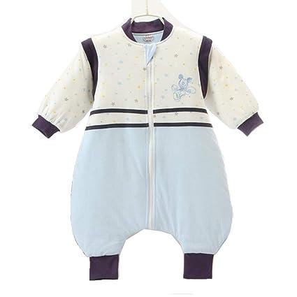 Gleecare Saco de Dormir para bebé,Otoño e Invierno de algodón Fino Pierna Dividida Saco