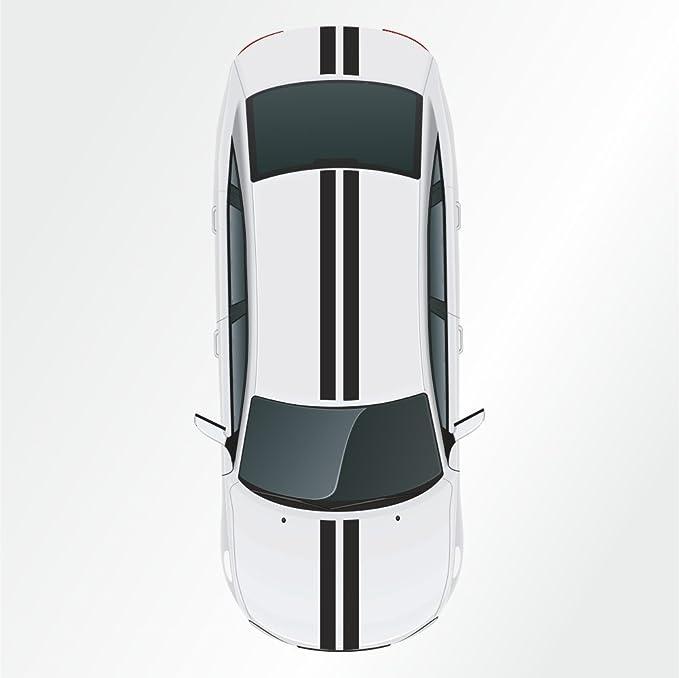 2 Stk 10 X 400 Cm Rennstreifen Aufkleber Viperstreifen Rallystreifen Auto