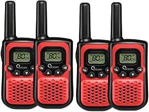 ORICOM PMR780 Handheld UHF Two Way Compact Radio WALKIE Quad Pack 80 Channel