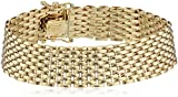14k Yellow Gold Italian 11 Row Panther Link Bracelet, 7