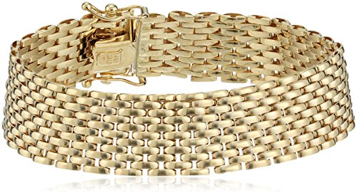 14k Yellow Gold Italian 11 Row