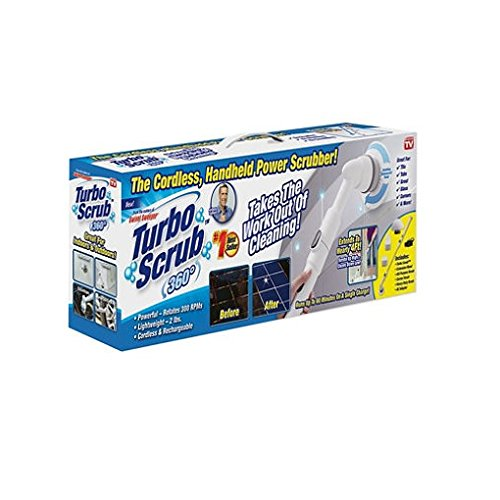 Turbo Scrub 360 Cordless, rechargeable scrubber As Seen On Tv NEW!! (Set of 2)