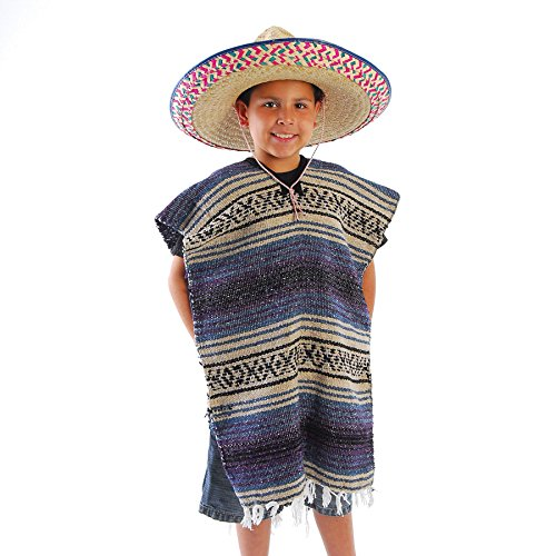 Child Size Traditional Poncho - No Sombrero,COLORS MAY -