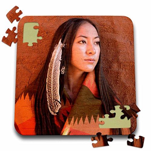 Cherokee Indian Costumes For Women (Danita Delimont - Native American - New Mexico, Cherokee woman, Native American - US32 JMR0634 - Julien McRoberts - 10x10 Inch Puzzle (pzl_92706_2))