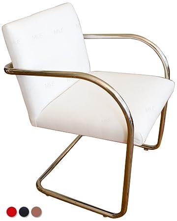 MLFu0026reg; Brno Tubular Chair (4 Colors). Italian Leather, Highly Resilient  Cushions