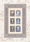 The Classic ERA - George Washington, Benjamin Franklin, Abraham Lincoln Souvenir Sheet of 6 Self-Adhesive Collectible USPS Forever Postage Stamps
